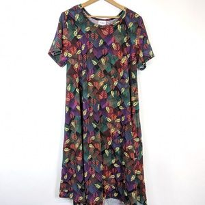 LuLaRoe leaf printed Carly dress